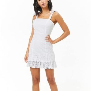Beautiful Forever 21 Floral Eyelet Mini Dress